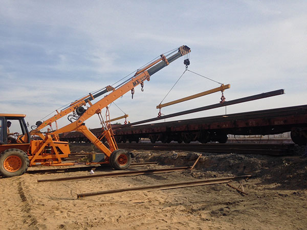 ACE 12Ton Mobile Crane in Tandem Loading