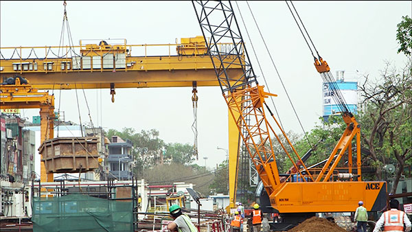 ACE ACX750 Crawler Crane for Project Site Material Handling