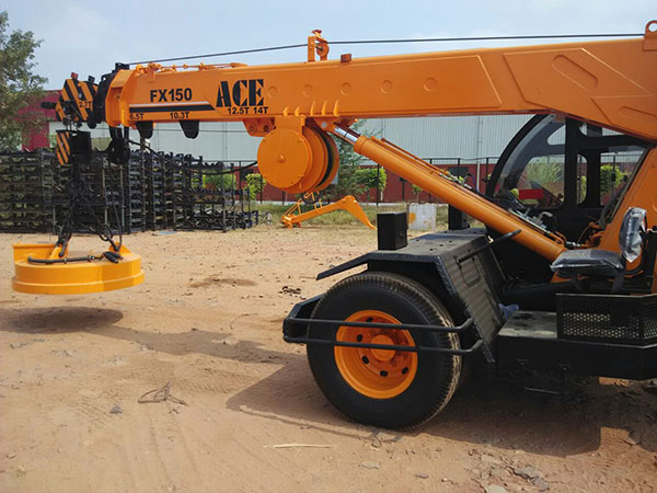 ACE FX 150 New Generation Crane with Magnet Attachment
