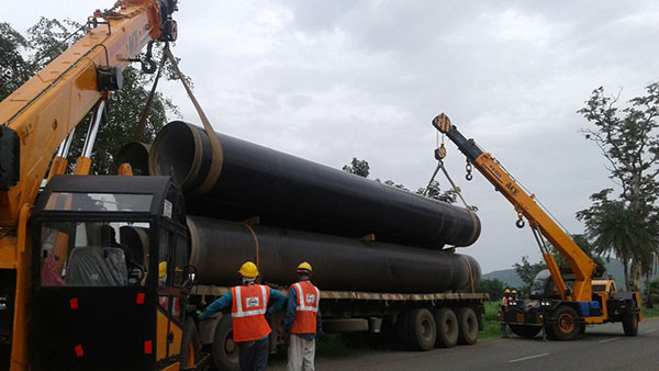 ACE FX150 Nextgen Cranes Lifting Steel Pipe