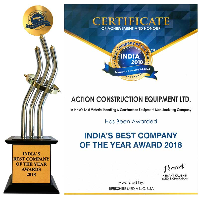 India's Best Company of the Year Award 2018 by Berkshire Media Pvt. Ltd. (A Division of Berkshire Media LLC, USA)