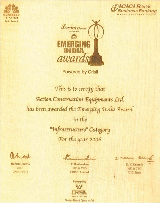 CNBC-TV18, Emerging India Award-2006