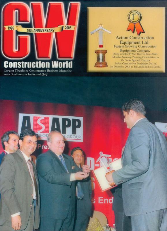 Fastest Growing Construction Equipment Company Award - CW-NICMAR-2006