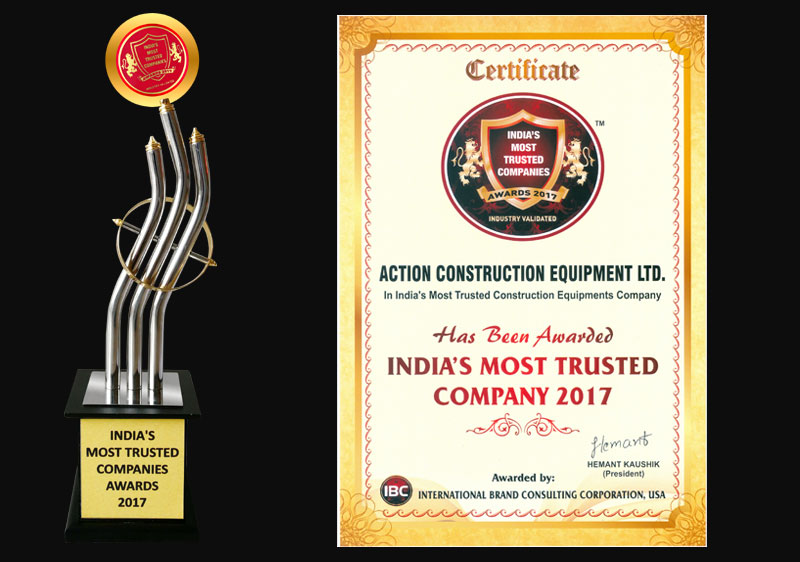 India's Most Trusted Company Award-IBC, USA-2017
