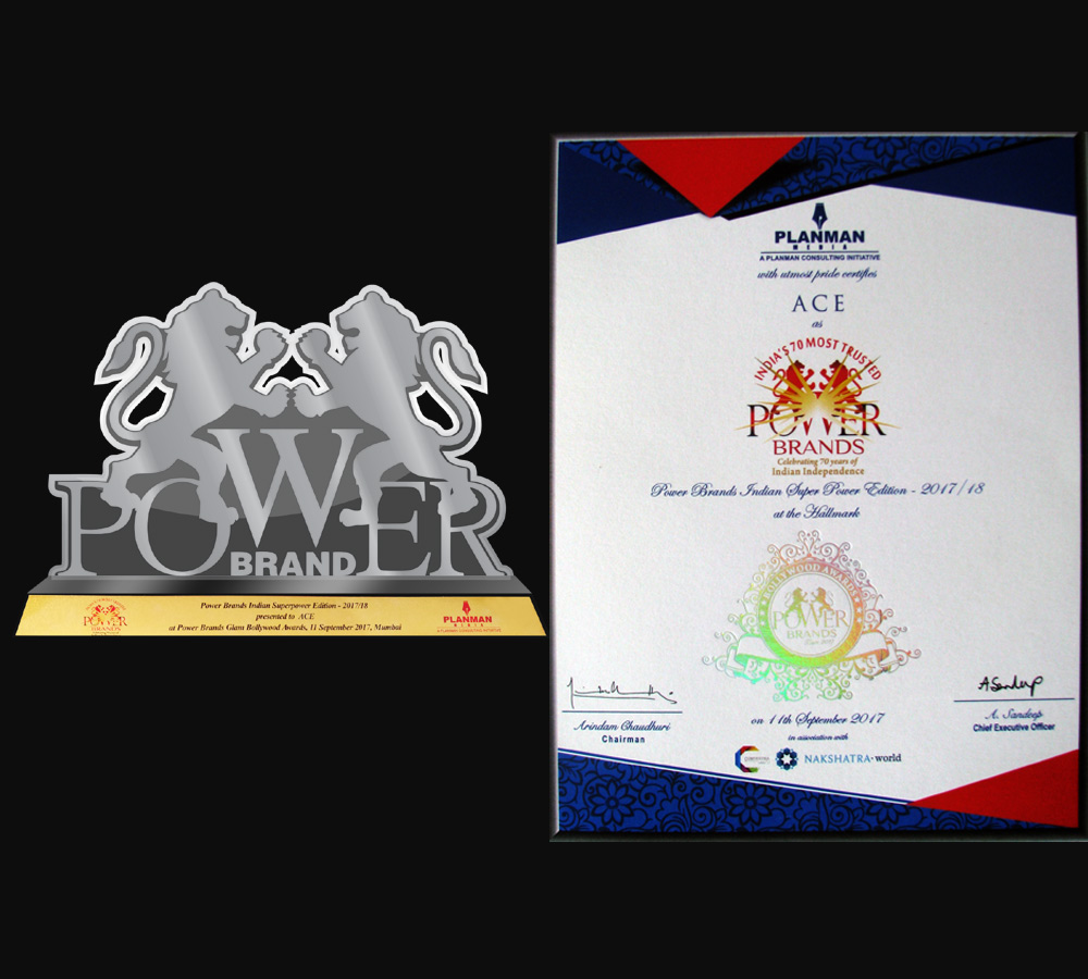 70 Most Trusted Power Brands of India Award-2017