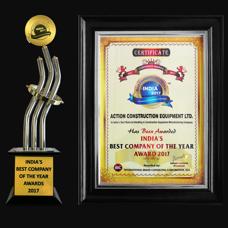 India's Best Material handling & Construction Equipment Manufacturing Company Award-IBC USA-2018